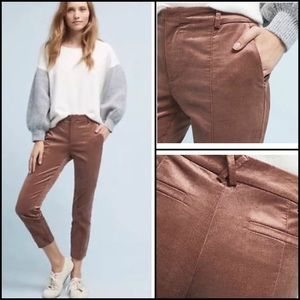 Anthropologie Essential Slim Velveteen Trousers 12